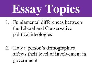 political ideologies essay