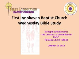 First Lynnhaven Baptist Church Wednesday Bible Study