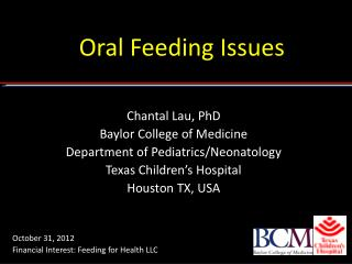 Oral Feeding Issues