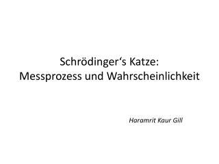 Schrödinger's  Katze:  Messprozess  und Wahrscheinlichkeit