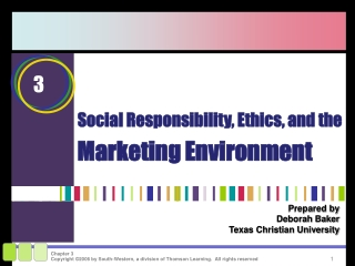 Social Responsibility  Ethics
