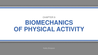 Biomechanics of Human Movement