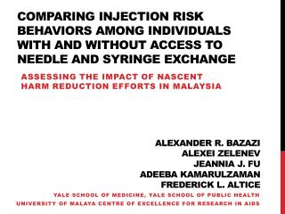 Assessing the impact of nascent harm reduction efforts in Malaysia