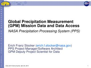 Global Precipitation Measurement (GPM) Mission Data and Data Access