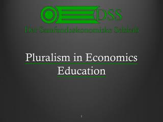 Pluralism  in  Economics  Education