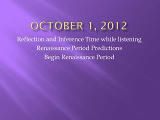 October 1, 2012