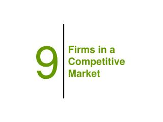 Firms in a Competitive Market