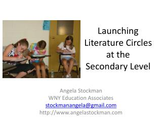 Launching Literature Circles at the Secondary Level