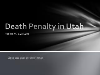 Death Penalty in Utah