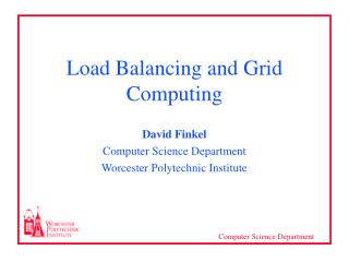Load Balancing and Grid Computing