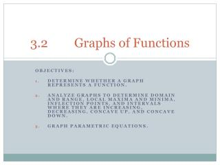 3.2		Graphs of Functions