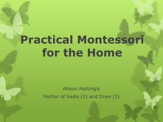 Practical Montessori for the Home