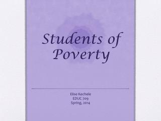 Students of  Poverty