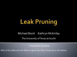 Leak Pruning