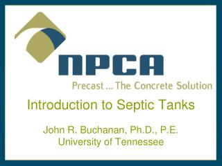 Introduction to Septic Tanks