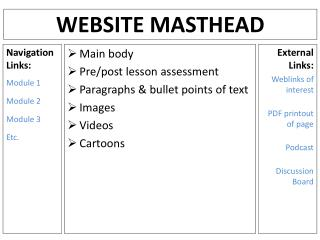Website Masthead