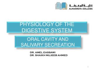 Physiology  of the Digestive  System