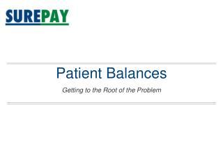 Patient Balances
