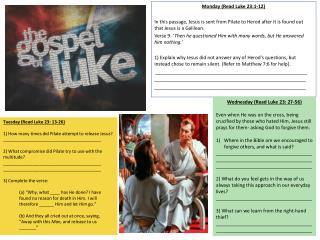 Monday (Read Luke 23:1-12)