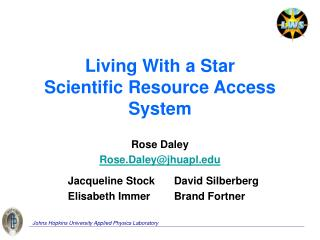 Living With a Star Scientific Resource Access System