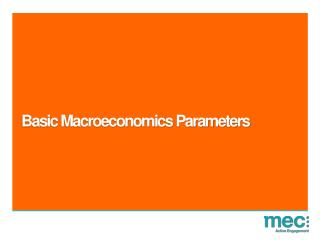 Basic Macroeconomics Parameters