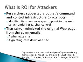 What Is ROI for Attackers
