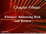 Finance: Balancing Risk and Return