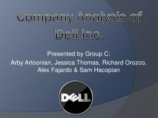 Company Analysis of Dell Inc.