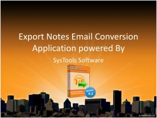 Export Notes Email Conversion