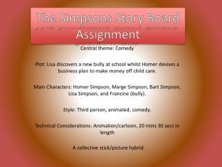 The Simpsons Story Board  Assignment
