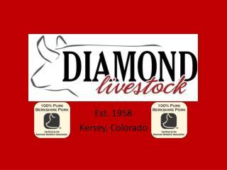 Est. 1958 Kersey, Colorado