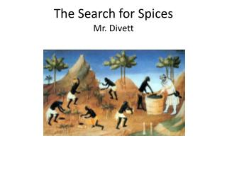 The Search for Spices