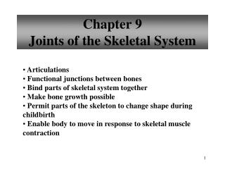 Chapter  9 Joints of the Skeletal System