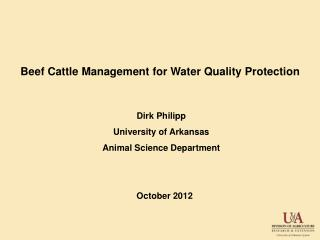 Beef Cattle Management for Water Quality Protection