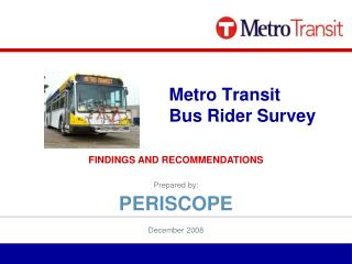 Metro Transit Bus Rider Survey