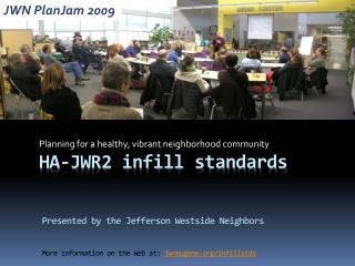 HA-JWR2  infill standards