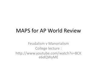 MAPS for AP World Review