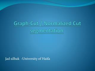 Graph-Cut / Normalized Cut  segmentation