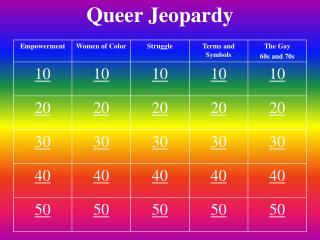 Queer  Jeopardy