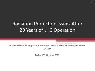 Radiation Protection Issues After  20 Years of LHC Operation