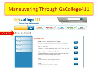 Maneuvering Through GaCollege411
