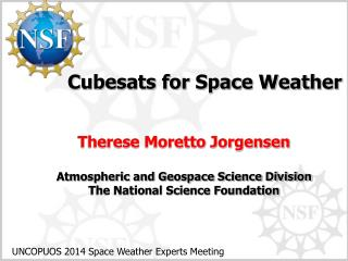Cubesats for Space Weather