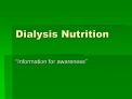 Dialysis Nutrition