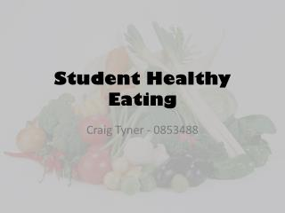 Student Healthy Eating