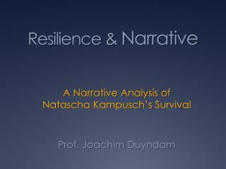 Resilience &  Narrative