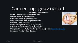 Cancer og graviditet