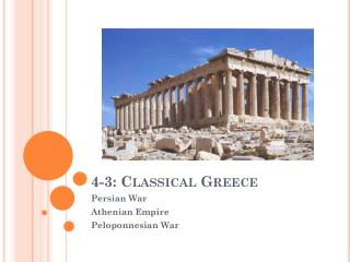 4-3: Classical Greece