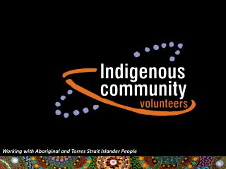 Working with Aboriginal and Torres Strait Islander People