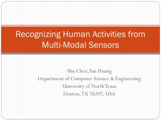 Recognizing Human Activities from Multi-Modal Sensors