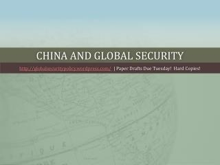 China and global security